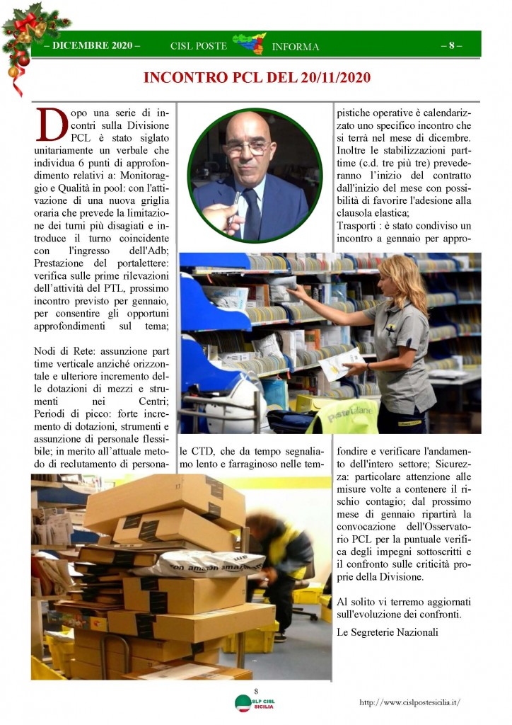 Cisl Poste Sicilia Informa Dicembrex 2020_Pagina_08