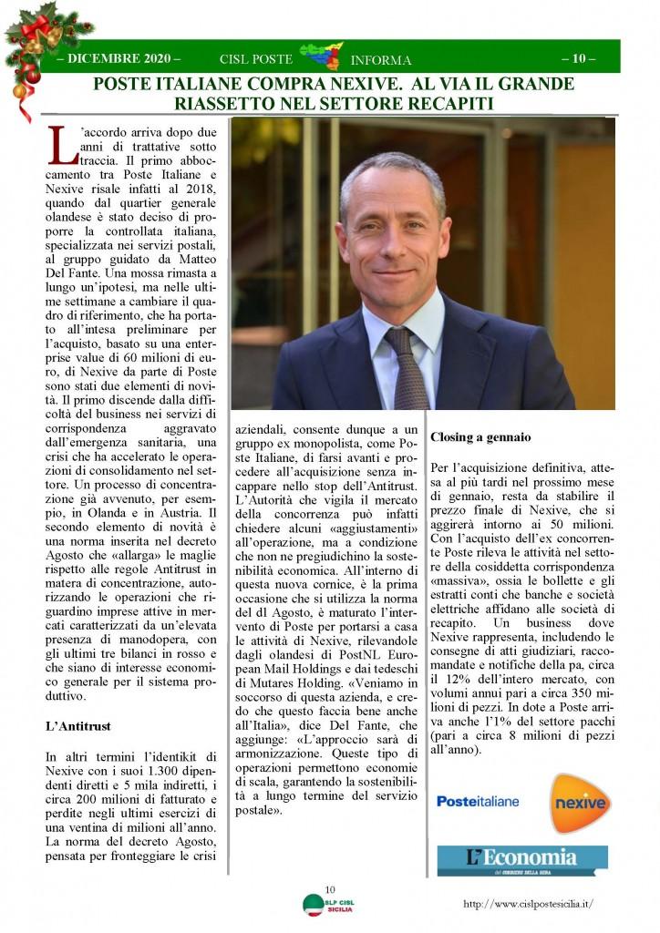 Cisl Poste Sicilia Informa Dicembrex 2020_Pagina_10