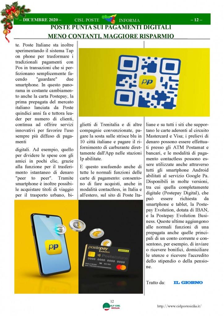 Cisl Poste Sicilia Informa Dicembrex 2020_Pagina_12