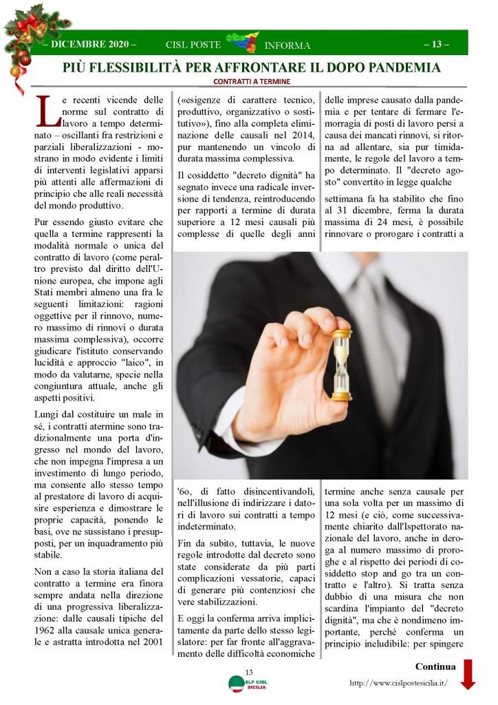 Cisl Poste Sicilia Informa Dicembrex 2020_Pagina_13