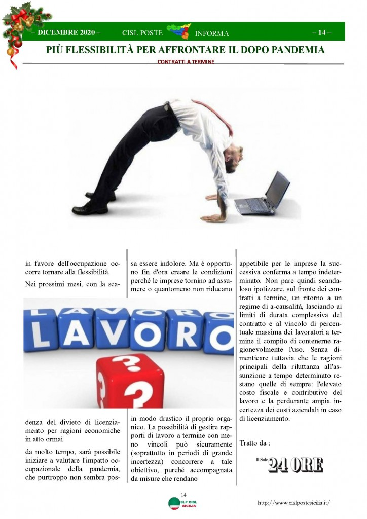 Cisl Poste Sicilia Informa Dicembrex 2020_Pagina_14