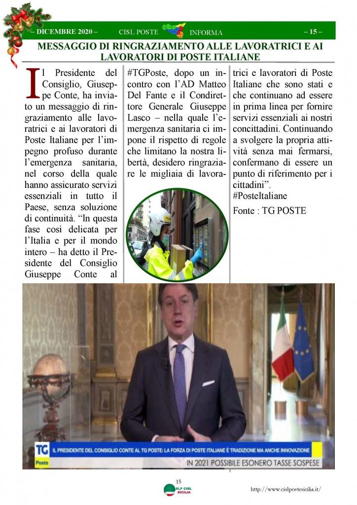 Cisl Poste Sicilia Informa Dicembrex 2020_Pagina_15