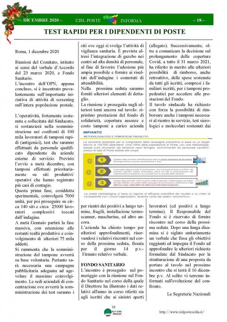 Cisl Poste Sicilia Informa Dicembrex 2020_Pagina_18