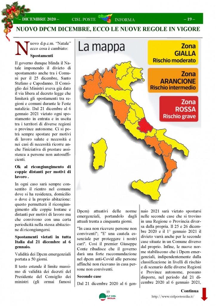 Cisl Poste Sicilia Informa Dicembrex 2020_Pagina_19