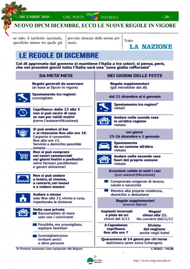 Cisl Poste Sicilia Informa Dicembrex 2020_Pagina_20
