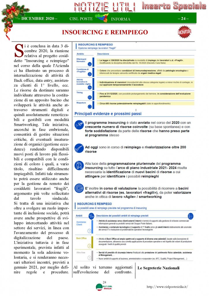 Cisl Poste Sicilia Informa Dicembrex 2020_Pagina_24