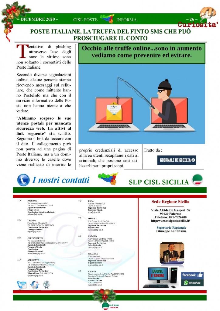 Cisl Poste Sicilia Informa Dicembrex 2020_Pagina_26