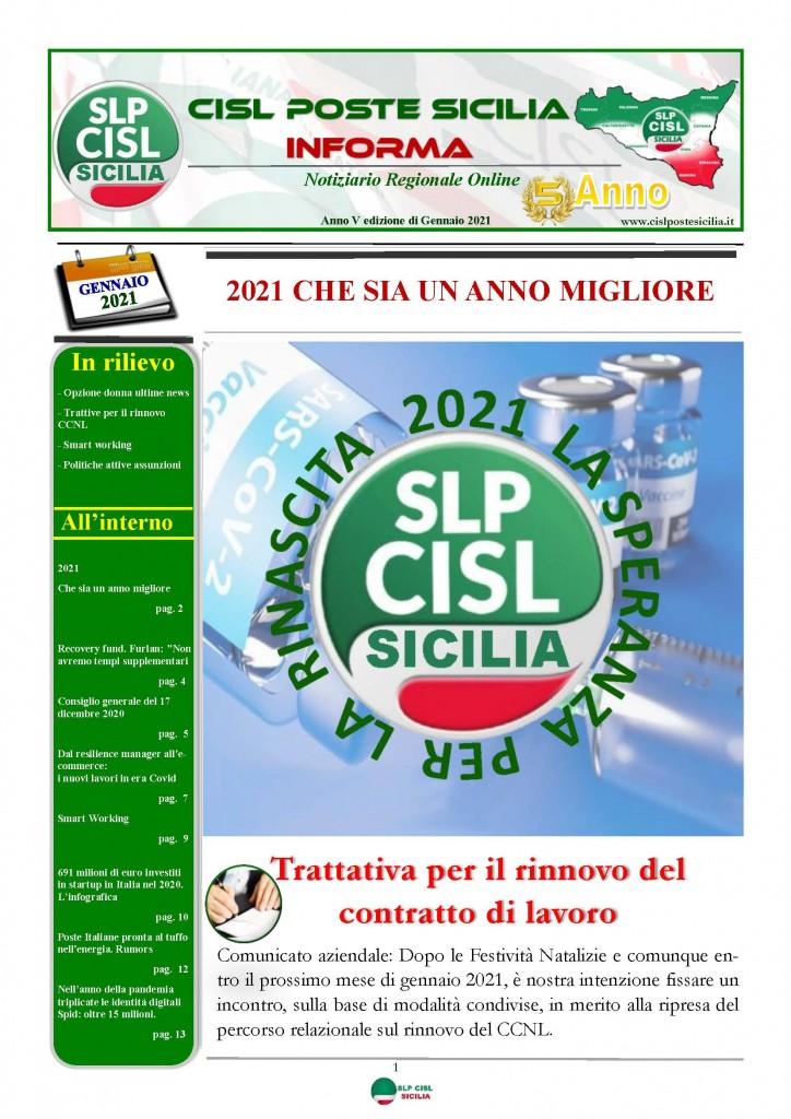 Cisl Poste Sicilia Informa Gennaio 2021_Pagina_01