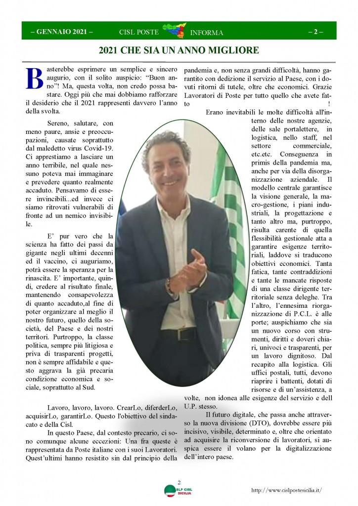 Cisl Poste Sicilia Informa Gennaio 2021_Pagina_02