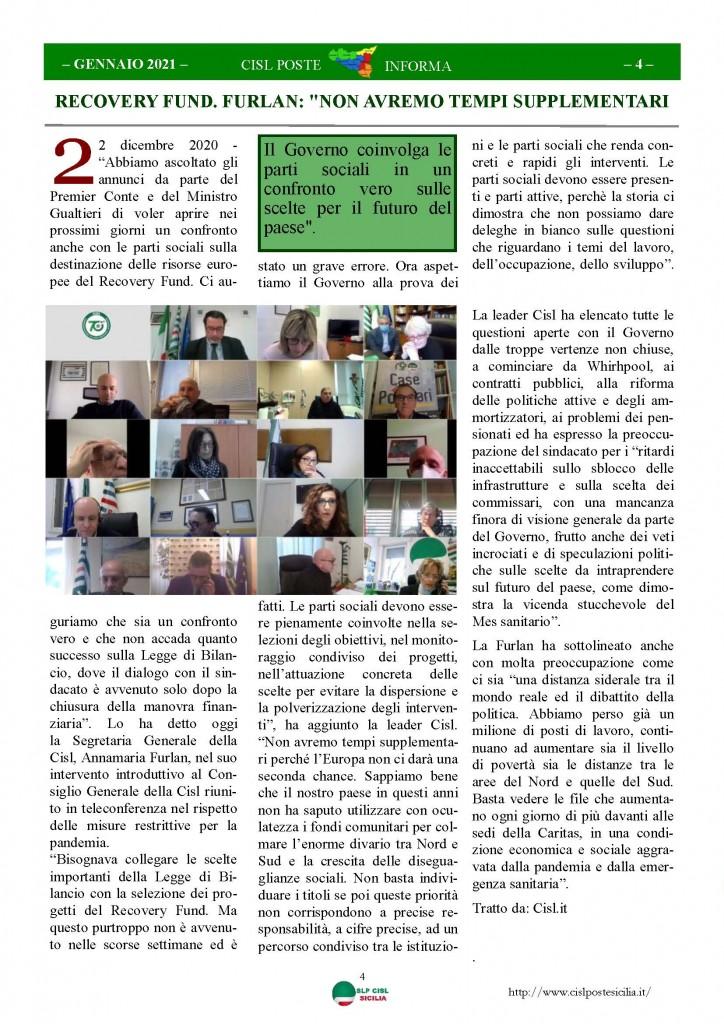 Cisl Poste Sicilia Informa Gennaio 2021_Pagina_04