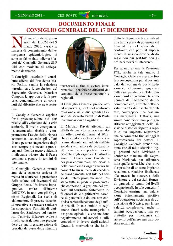 Cisl Poste Sicilia Informa Gennaio 2021_Pagina_05