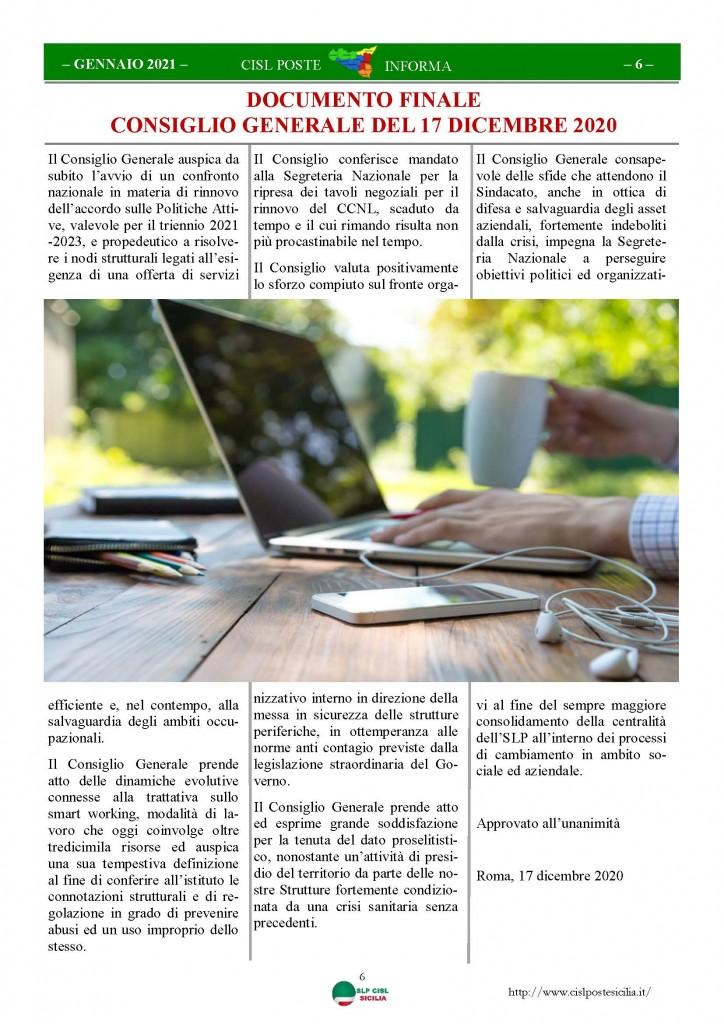 Cisl Poste Sicilia Informa Gennaio 2021_Pagina_06
