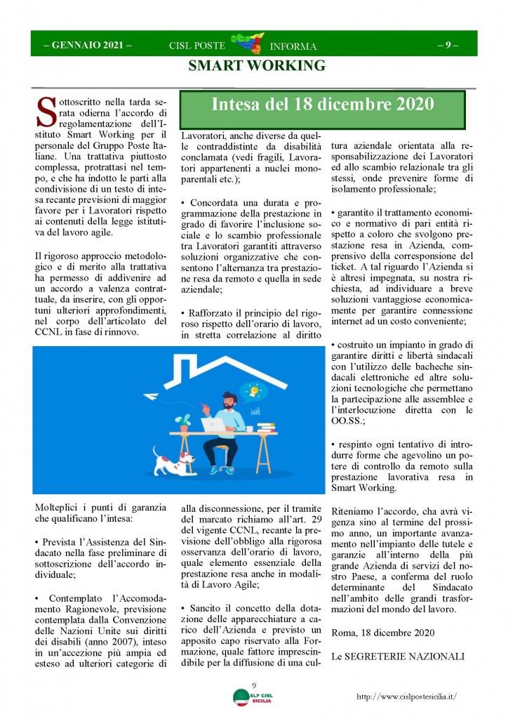 Cisl Poste Sicilia Informa Gennaio 2021_Pagina_09