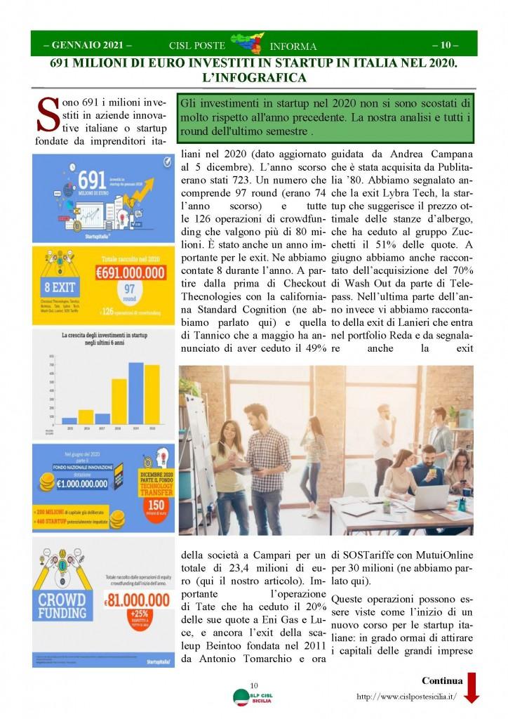 Cisl Poste Sicilia Informa Gennaio 2021_Pagina_10