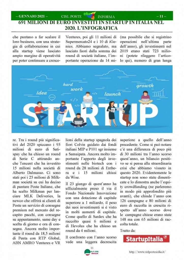 Cisl Poste Sicilia Informa Gennaio 2021_Pagina_11
