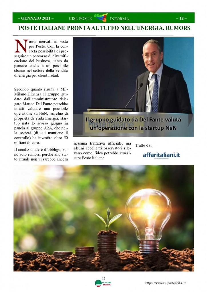 Cisl Poste Sicilia Informa Gennaio 2021_Pagina_12