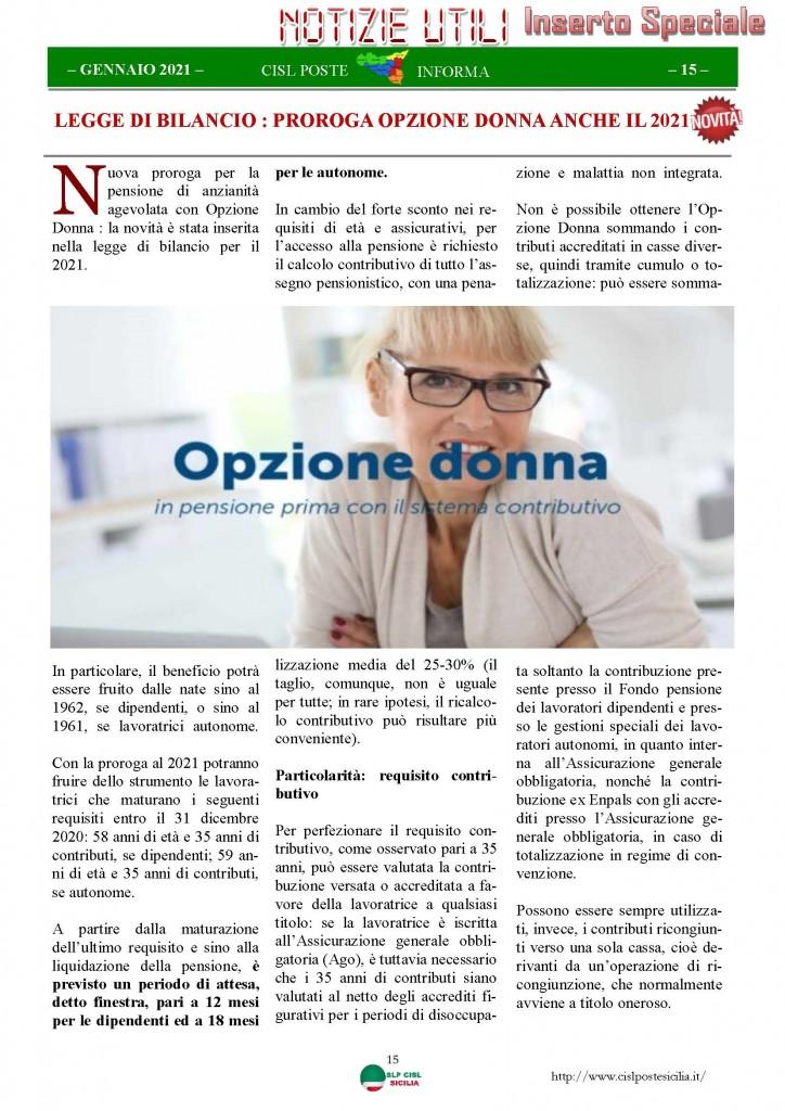 Cisl Poste Sicilia Informa Gennaio 2021_Pagina_15
