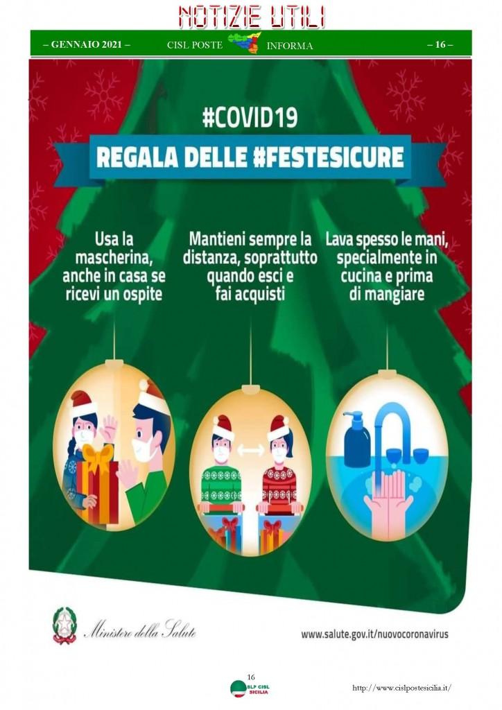 Cisl Poste Sicilia Informa Gennaio 2021_Pagina_16