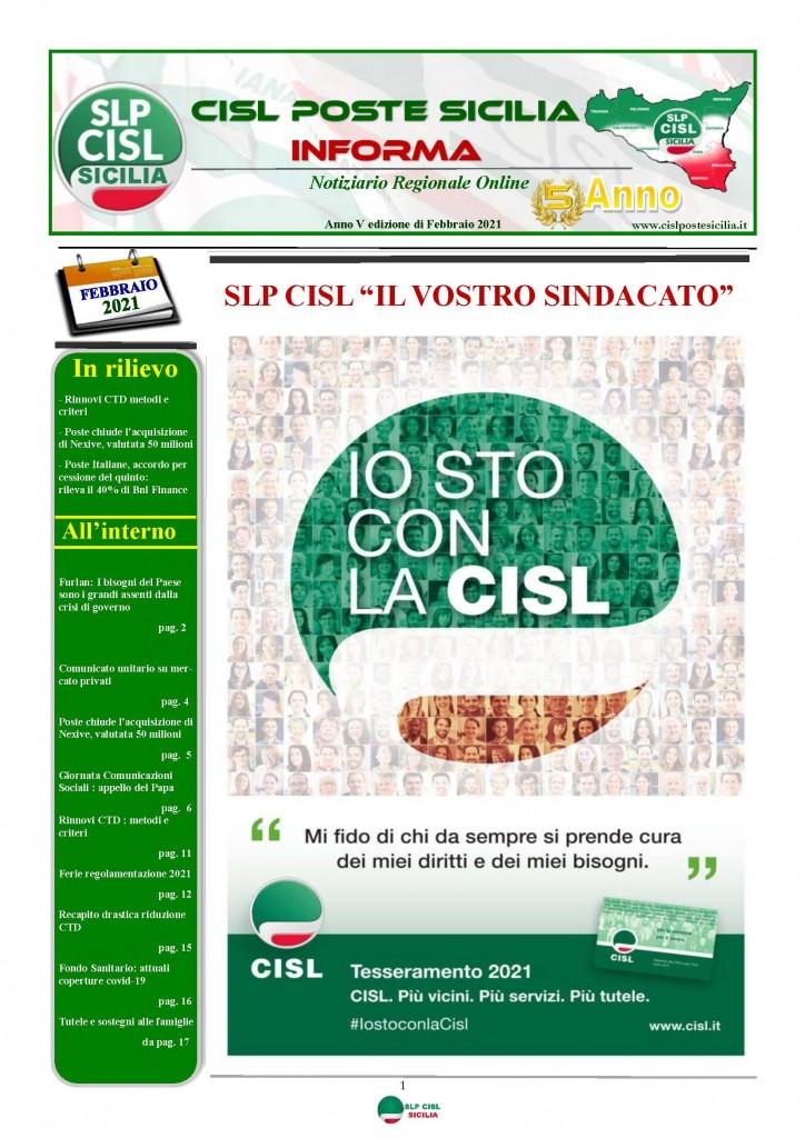 Cisl Poste Sicilia Informa Febbraio 2021_Pagina_01