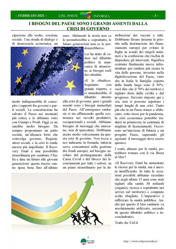 Cisl Poste Sicilia Informa Febbraio 2021_Pagina_03