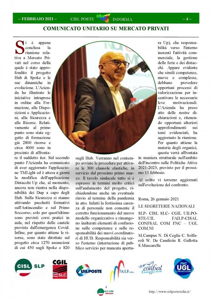 Cisl Poste Sicilia Informa Febbraio 2021_Pagina_04