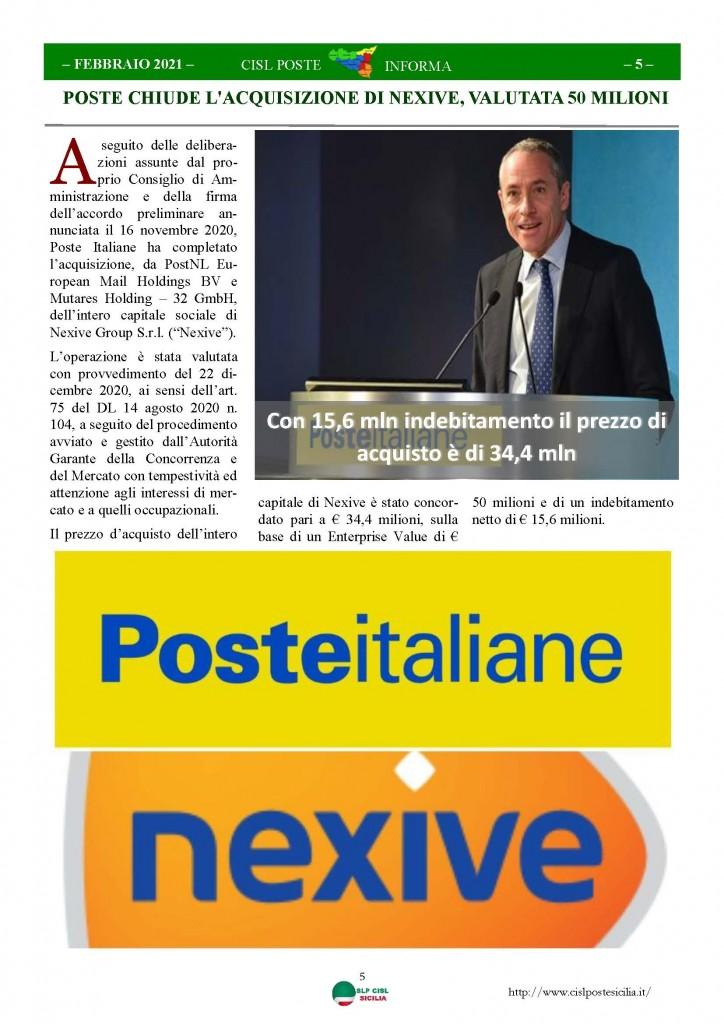Cisl Poste Sicilia Informa Febbraio 2021_Pagina_05