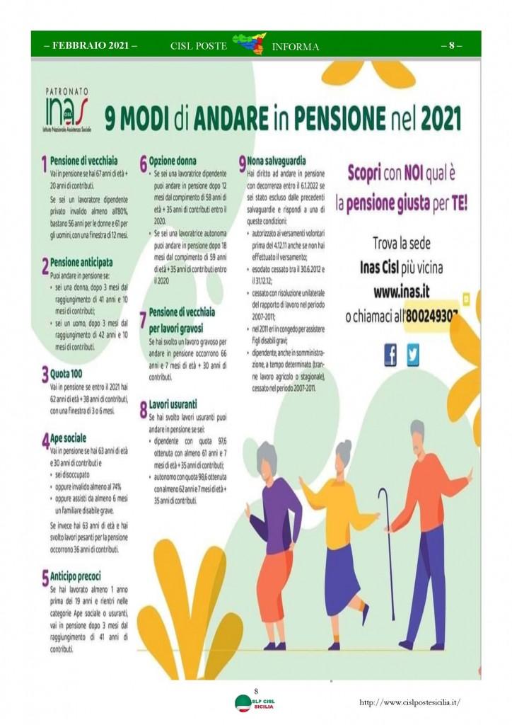 Cisl Poste Sicilia Informa Febbraio 2021_Pagina_08