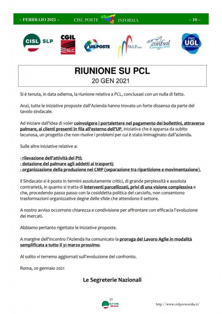 Cisl Poste Sicilia Informa Febbraio 2021_Pagina_10