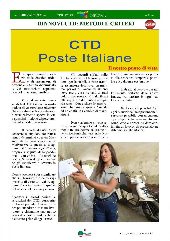 Cisl Poste Sicilia Informa Febbraio 2021_Pagina_11