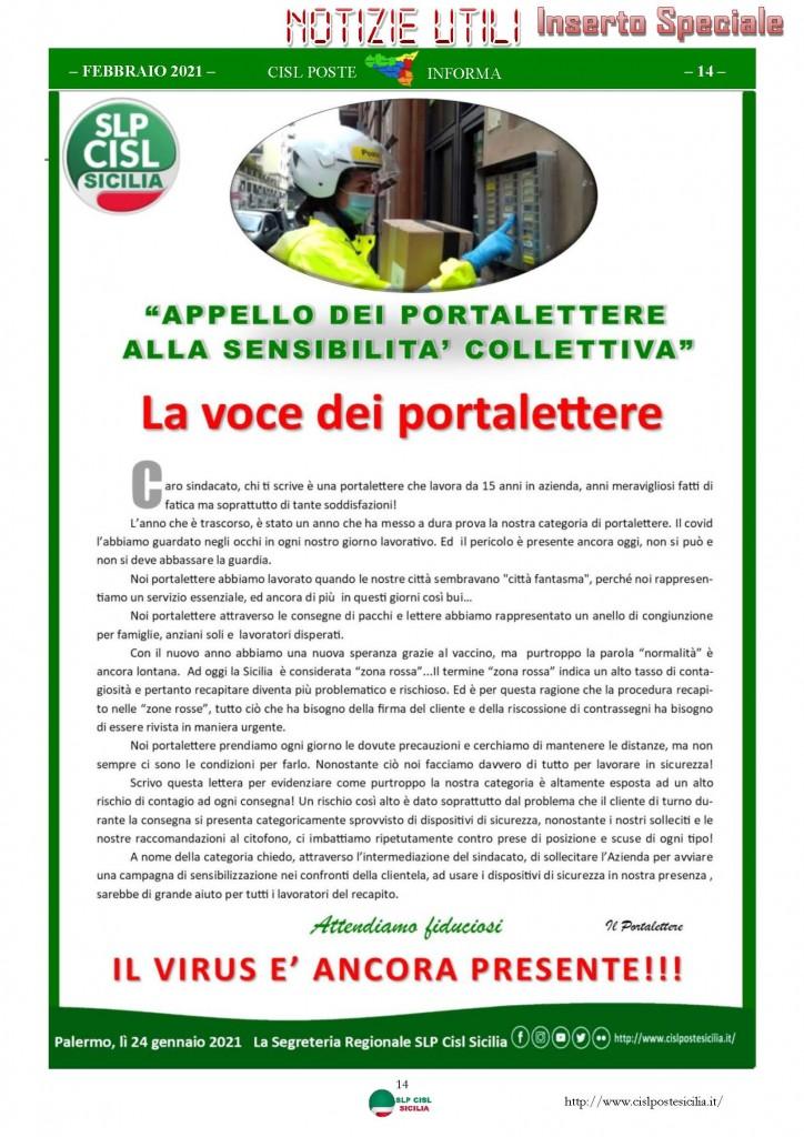 Cisl Poste Sicilia Informa Febbraio 2021_Pagina_14