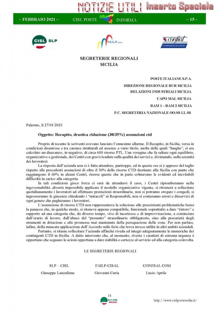 Cisl Poste Sicilia Informa Febbraio 2021_Pagina_15