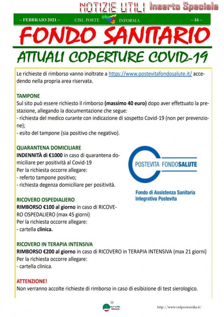 Cisl Poste Sicilia Informa Febbraio 2021_Pagina_16