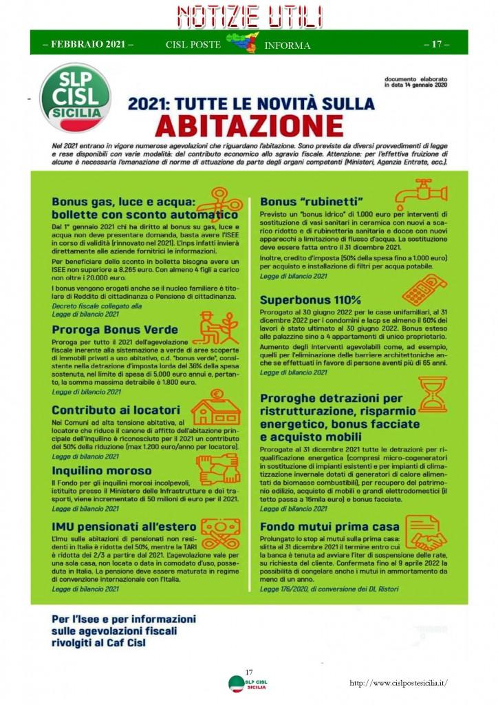 Cisl Poste Sicilia Informa Febbraio 2021_Pagina_17