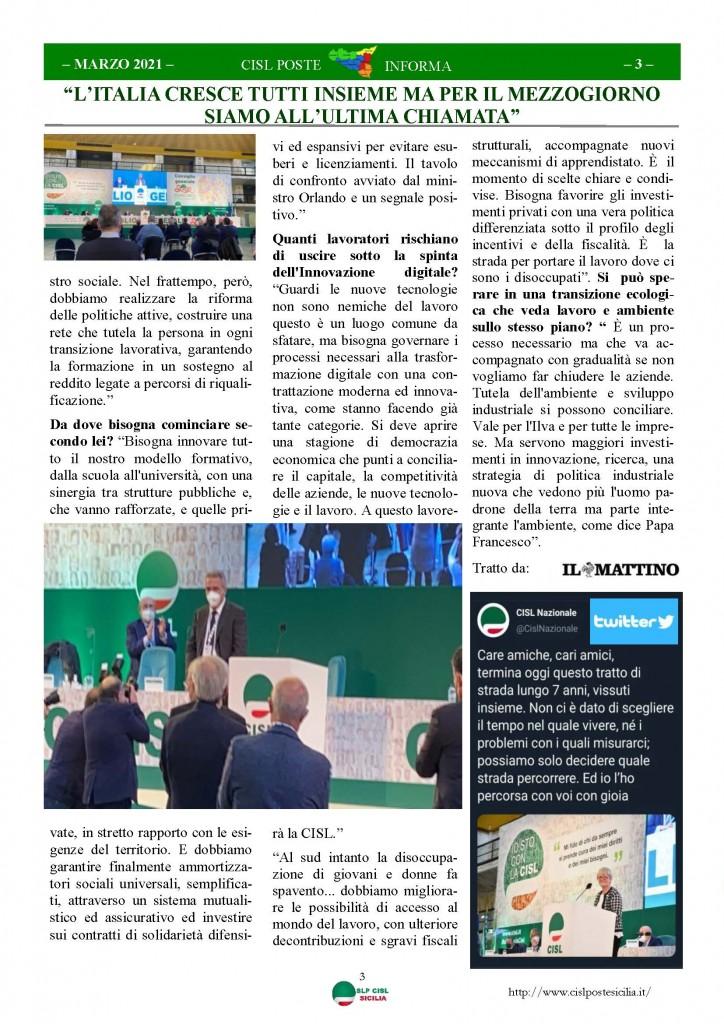 Cisl Poste Sicilia Informa Marzo 2021_Pagina_03