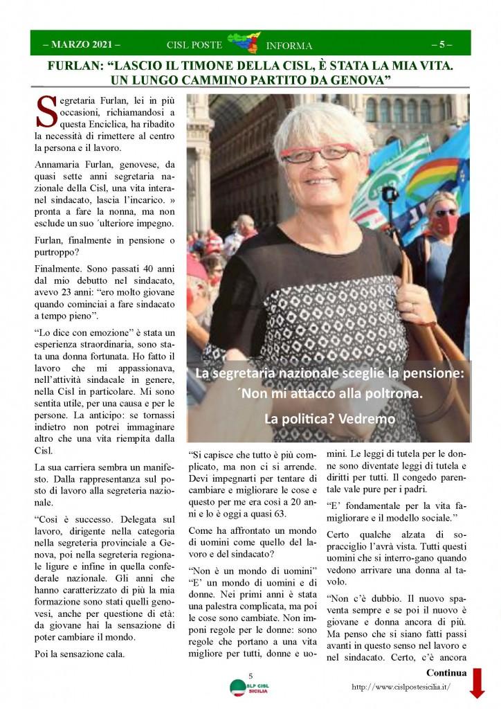 Cisl Poste Sicilia Informa Marzo 2021_Pagina_05