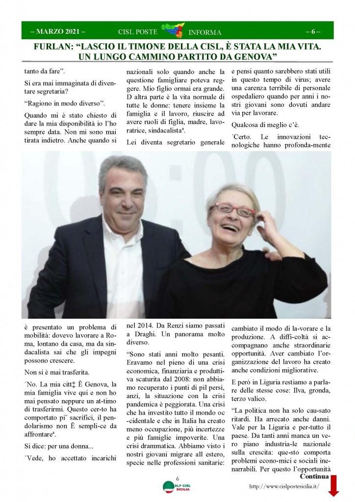 Cisl Poste Sicilia Informa Marzo 2021_Pagina_06