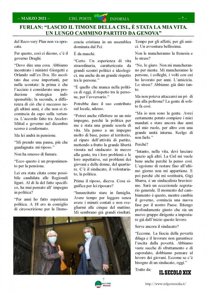 Cisl Poste Sicilia Informa Marzo 2021_Pagina_07