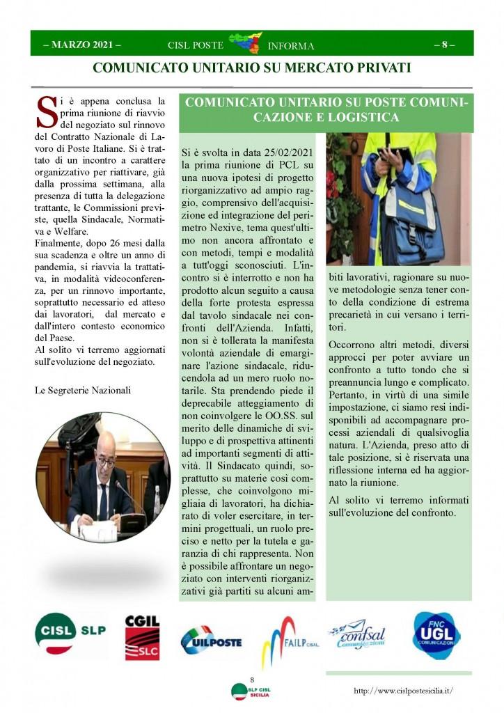 Cisl Poste Sicilia Informa Marzo 2021_Pagina_08