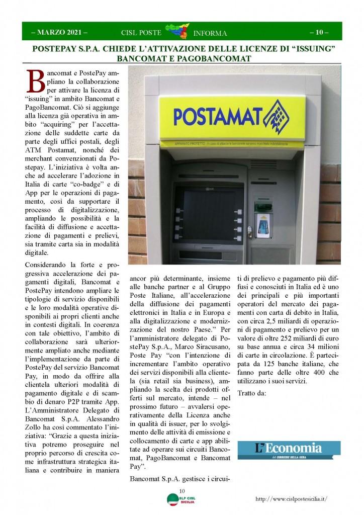 Cisl Poste Sicilia Informa Marzo 2021_Pagina_10