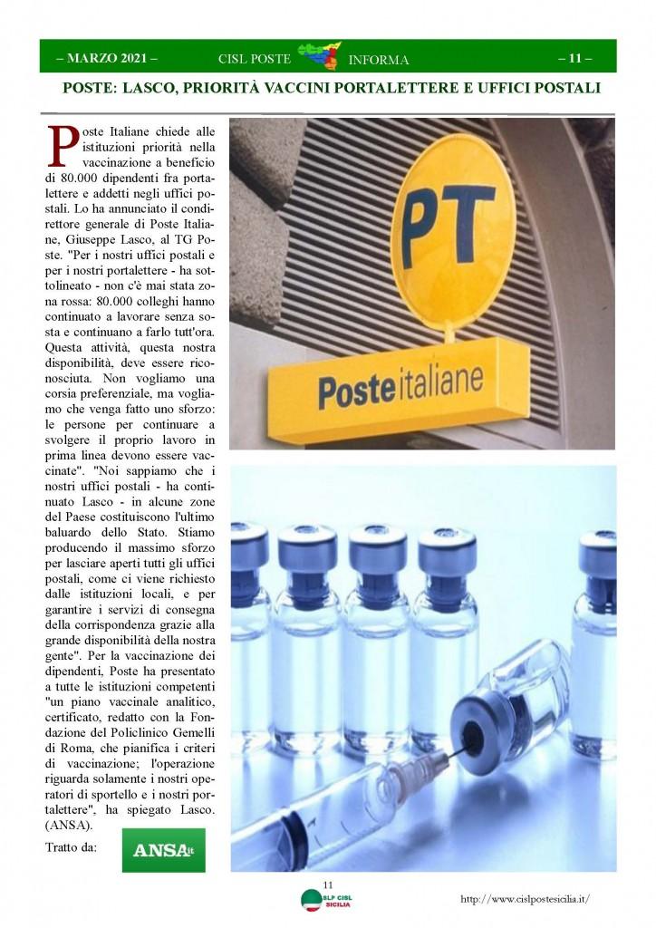Cisl Poste Sicilia Informa Marzo 2021_Pagina_11