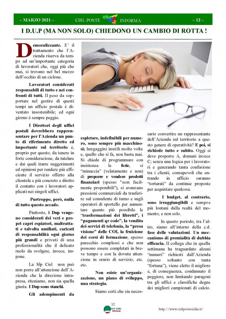 Cisl Poste Sicilia Informa Marzo 2021_Pagina_12
