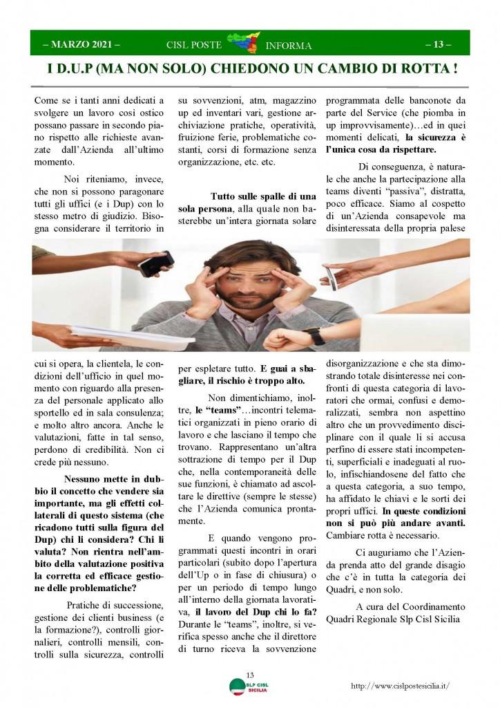 Cisl Poste Sicilia Informa Marzo 2021_Pagina_13