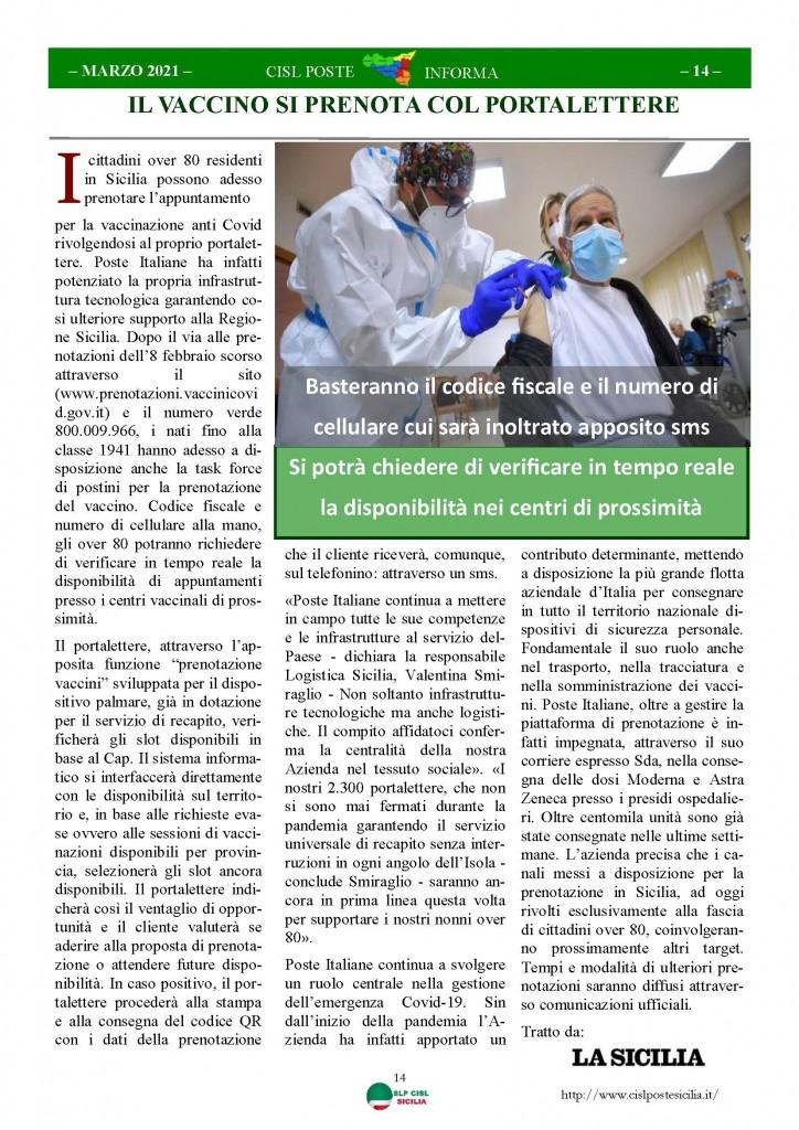 Cisl Poste Sicilia Informa Marzo 2021_Pagina_14