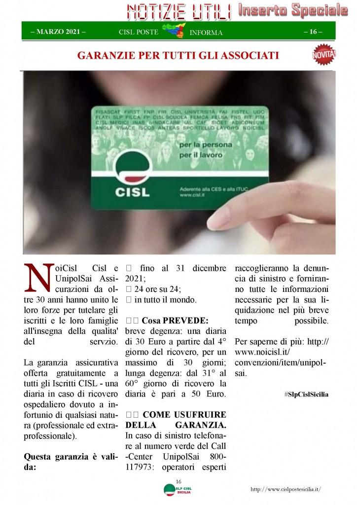 Cisl Poste Sicilia Informa Marzo 2021_Pagina_16