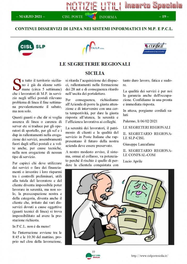 Cisl Poste Sicilia Informa Marzo 2021_Pagina_19