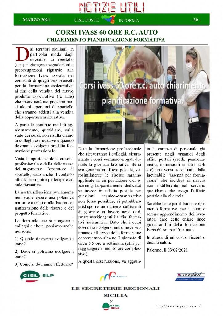 Cisl Poste Sicilia Informa Marzo 2021_Pagina_20