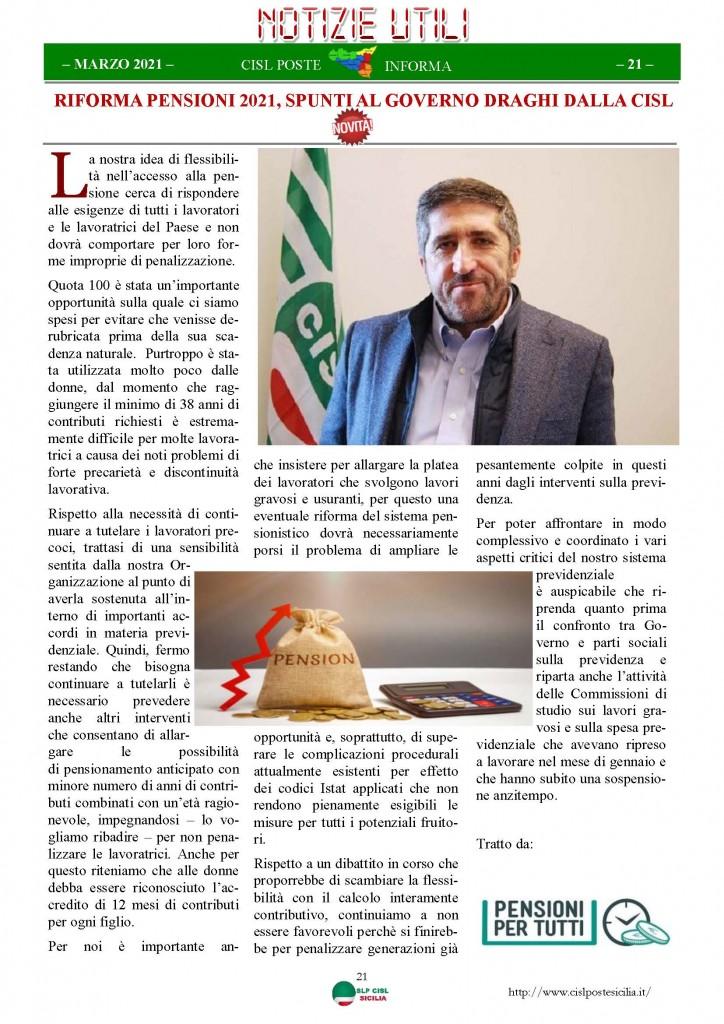 Cisl Poste Sicilia Informa Marzo 2021_Pagina_21