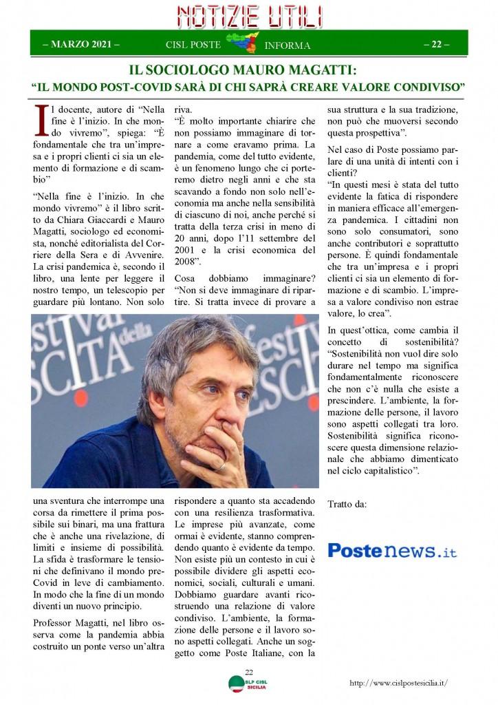 Cisl Poste Sicilia Informa Marzo 2021_Pagina_22