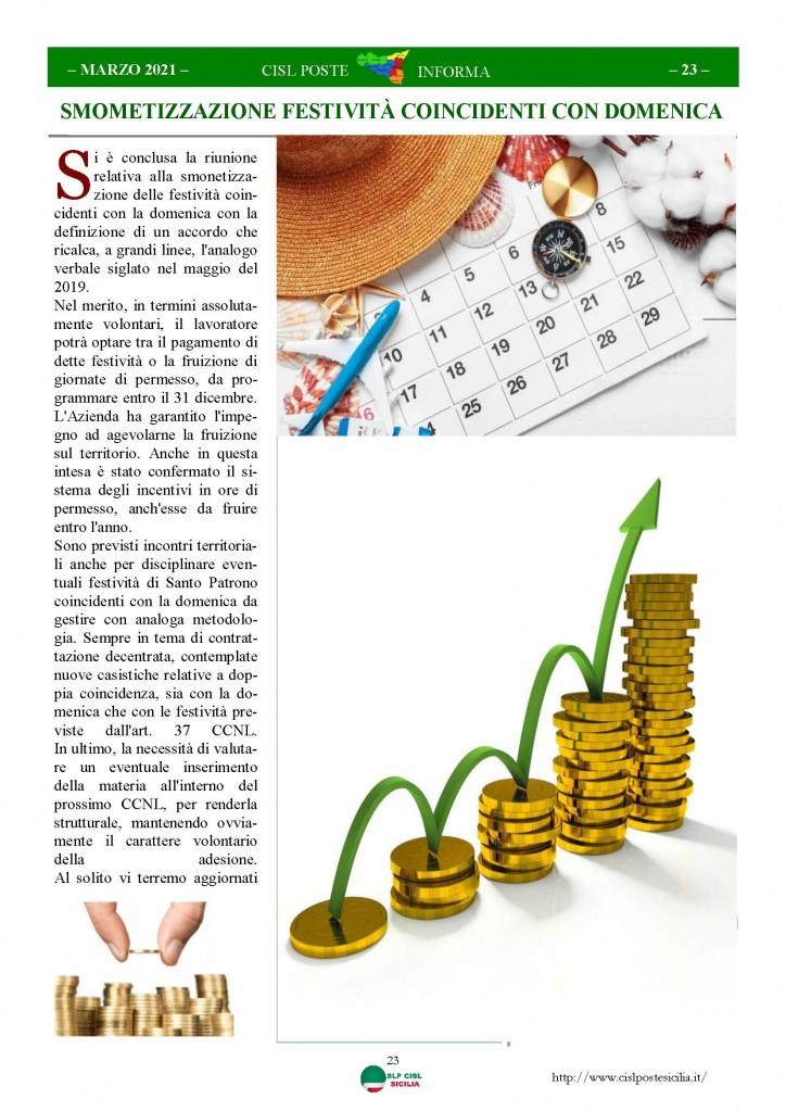 Cisl Poste Sicilia Informa Marzo 2021_Pagina_23
