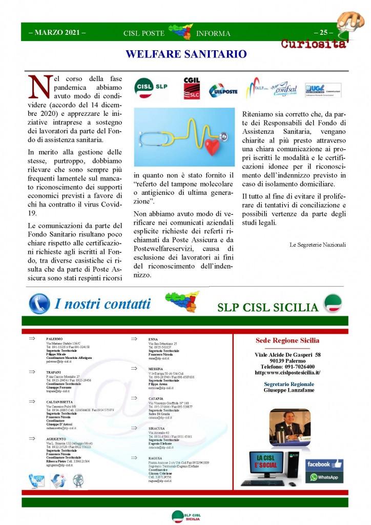 Cisl Poste Sicilia Informa Marzo 2021_Pagina_25